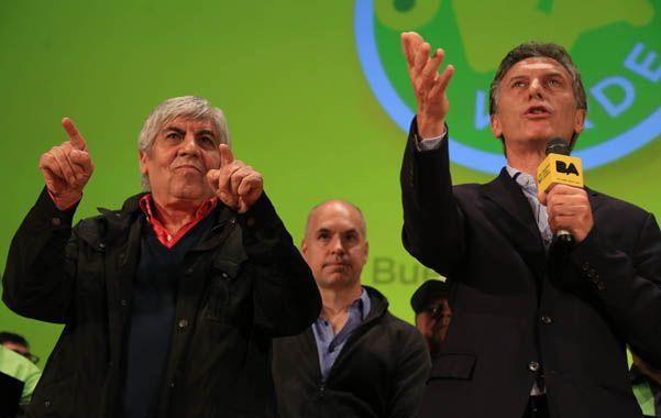 Moyano y Macri compartieron el lunes pasado un acto en el que abundaron gestos y elogios.