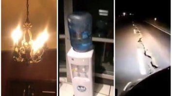 Los rosarinos publicaron en las redes sociales los videos del impacto del sismo en la ciudad