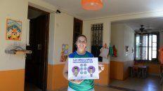 Mayra Williams, responsable del Jardín Peques y Peques Garden, del barrio Lomas de Alberdi, uno de los que el martes abrirá las puertas.