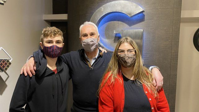 Abner, Sergio y Zalia, Hiskin.