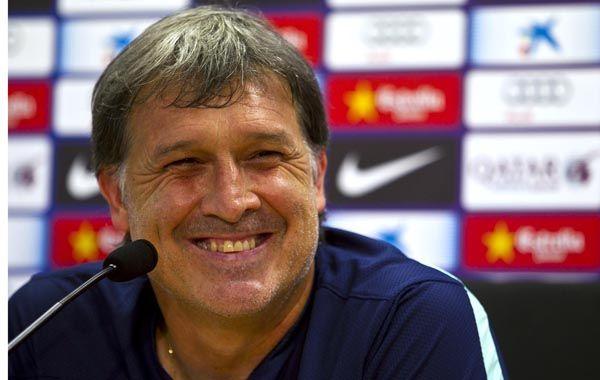El Tata Martino dijo que Messi lo sorprende día a día. Foto: Reuters.