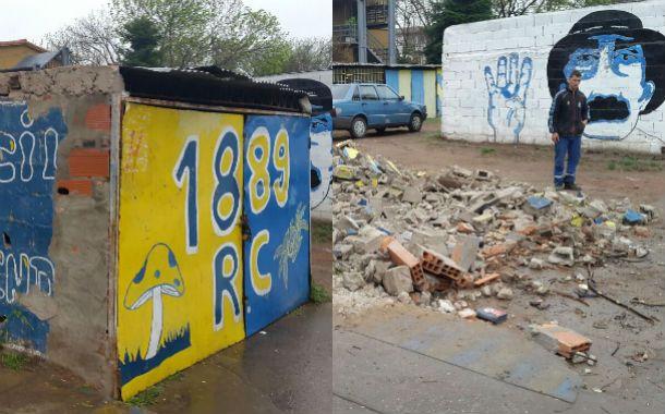 Antes y después. Las cocheras ilegales fueron demolidas. (Foto: prensa gobernación)