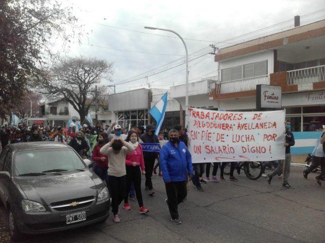 Se realizó una multitudinaria marcha de trabajadores en Reconquista