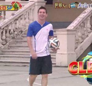 Lio Messi sonríe tras lograr una nueva marca.