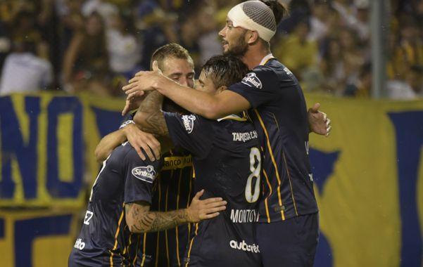 Fernández anotó el tanto del triunfo amistoso de los canallas.