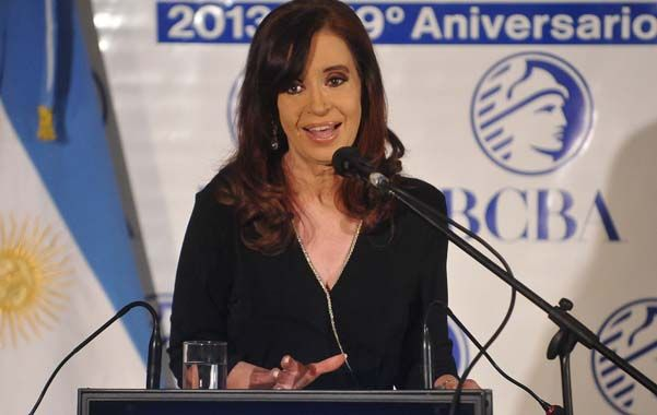 La presidenta Cristina Fernández.