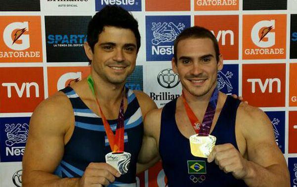 En el podio. Molinari y el brasileño Arthur Nabarrete Zanetti.
