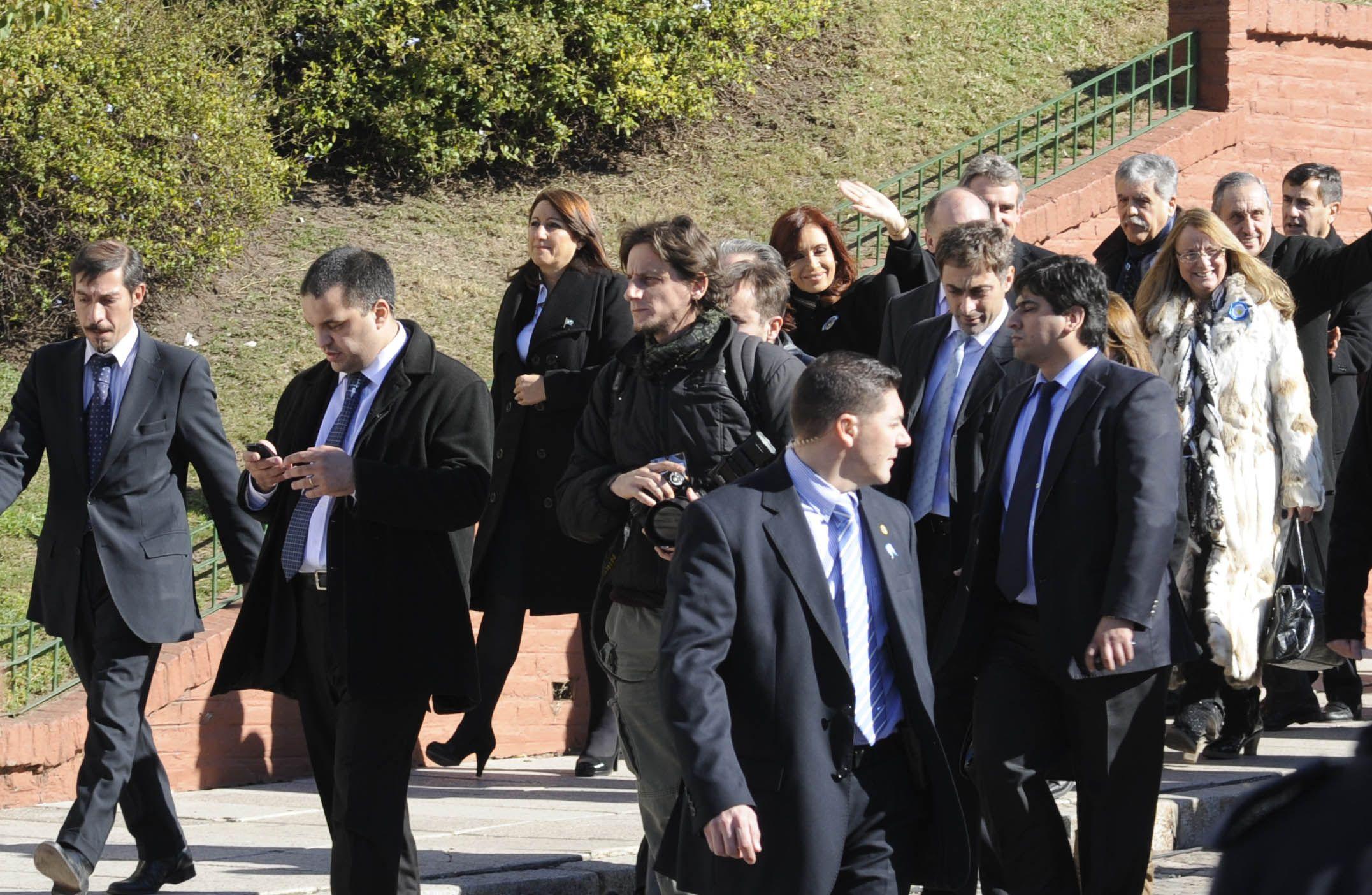En compañía de la intendenta Mónica Fein y del vicegobernador Jorge Henn