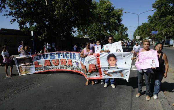 El reclamo. Vecinos de las víctimas del barrio Manantial