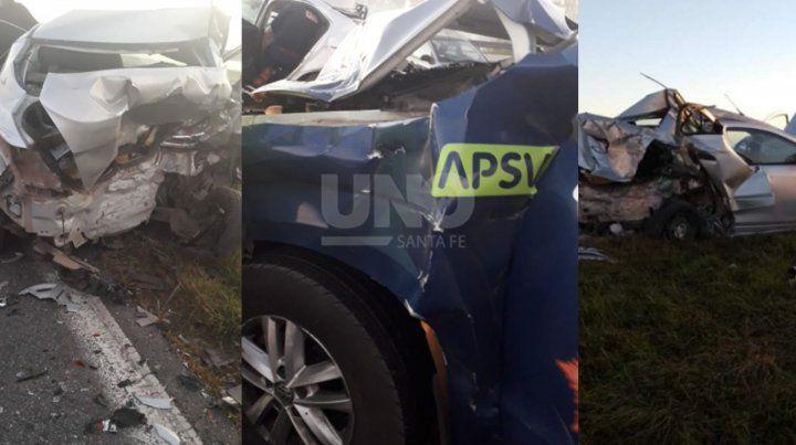 Varios choques con muchos heridos en autopista Santa Fe-Rosario producto de la niebla y el humo.