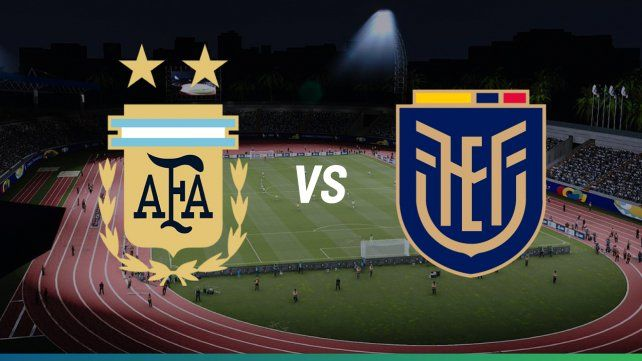 Argentina enfrenta su primer partido de la copa a todo o nada frente a Ecuador
