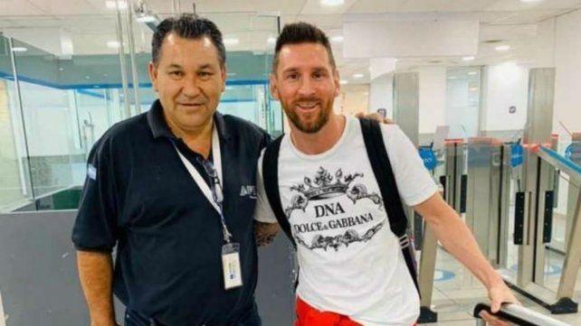 Messi llegó a Rosario para pasar las fiestas con su familia