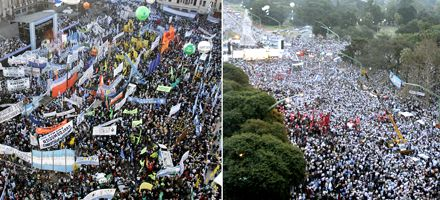 La Argentina se mostró dividida en la previa al debate en el Senado