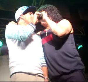 El Apache Tevez y la Mona Giménez cantaron en Sargento Cabral.