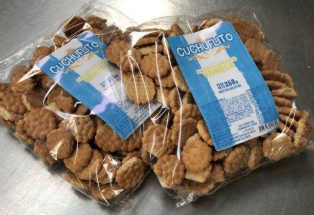 Las galletitas marca Cuchuflito salieron hoy a la venta en una localidad de Santa Fe.