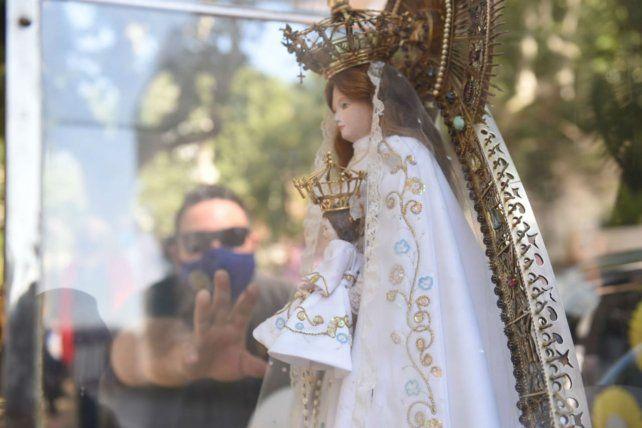 La celebración del Día de la Virgen también se realizó con las medidas preventivas a las que obliga la pandemia.