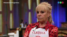Claudia Villafañe evocó su niñez en la gala de MasterChef Celebrity y rompió en llanto.
