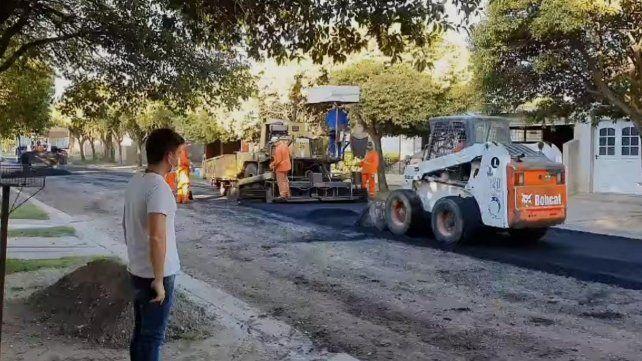 Los trabajos se llevan adelante con maquinarias prestadas por el Corredor Vial Nº 6.