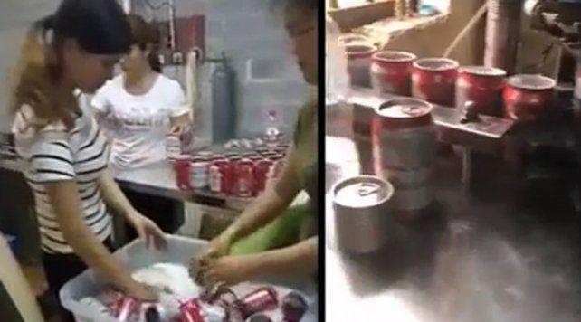 Así producen latas truchas de cervezas en China