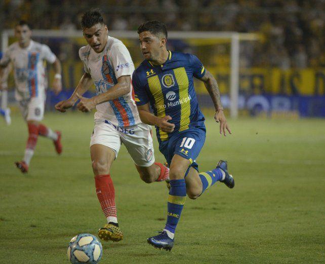 Martínez jugó sólo dos partidos con la camiseta de Central.