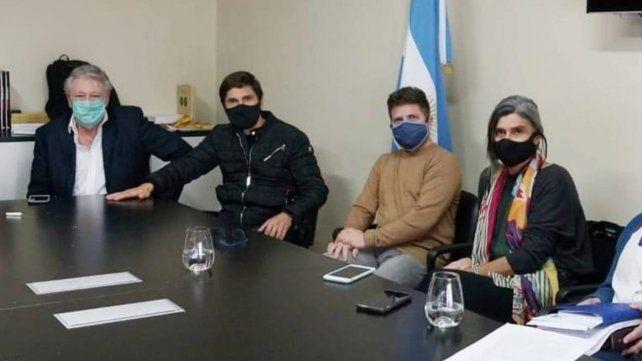 Los legisladores que protagonizaron el encuentro.