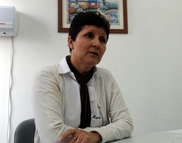 María Rosa Silva dirige la Escuela de Villa Minetti. (Foto: N. Juncos)