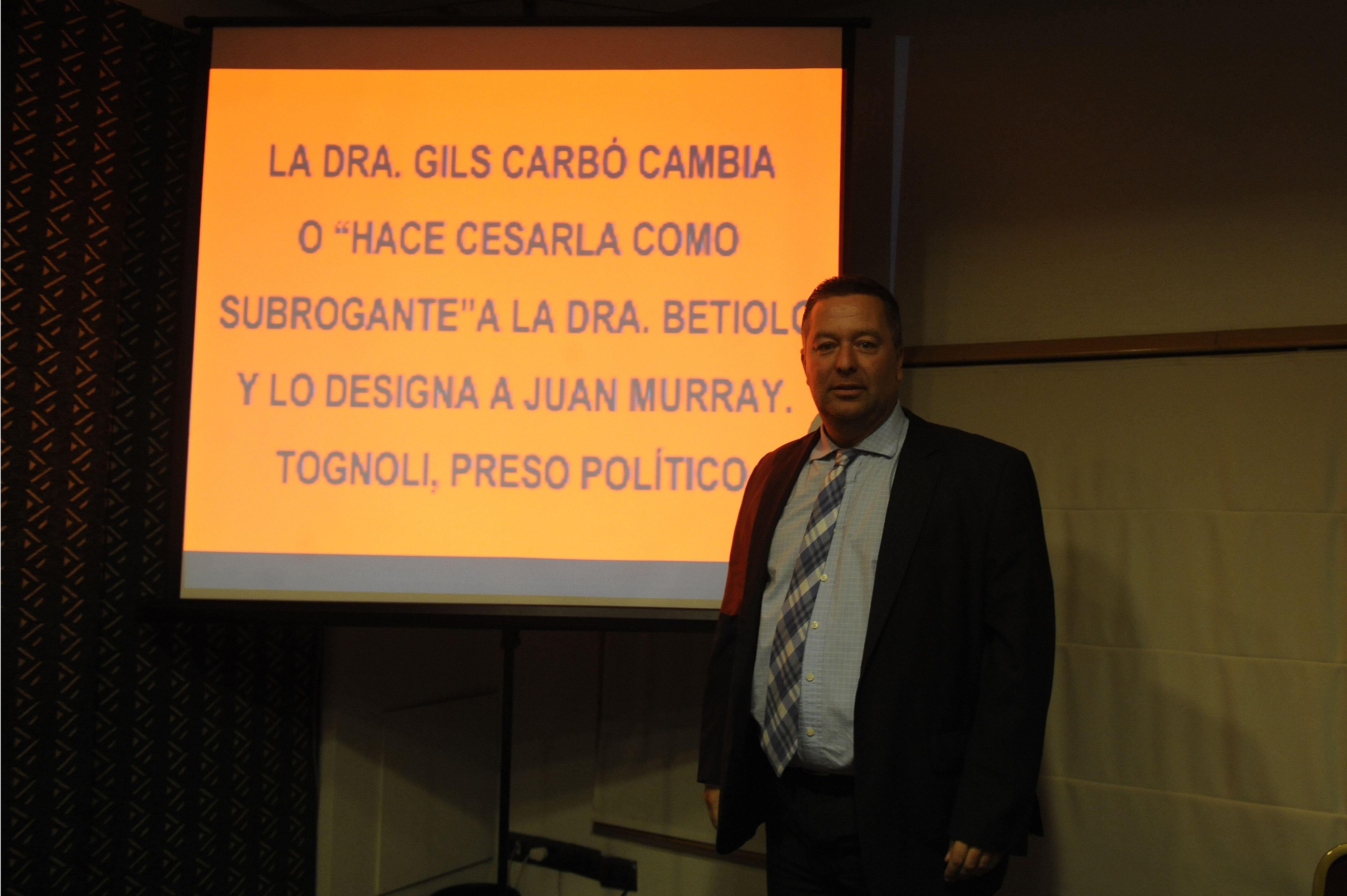 video y audio. Andrés Rabinovich presentó el audio de la audiencia en la que se discutió la excarcelación.