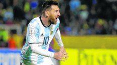 Gritalo, Leo. El rosarino marcó tres goles en una noche mágica ante Ecuador en la altura de Quito.