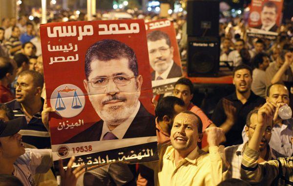 Manifestación de apoyo al presidente Morsi en el centro de El Cairo.