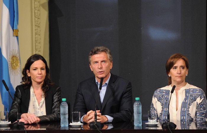 Macri estuvo acompañado de la vicepresidenta