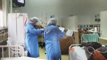 Violinistas con contagiados de Covid como público: Es una caricia para los pacientes y para los médicos