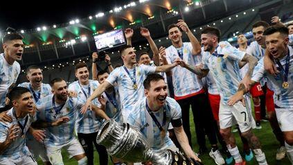 Chau racha. El seleccionado argentino ganó la Copa América en Brasil tras 28 años sin títulos.