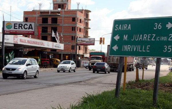 El ingreso a la ciudad cordobesa de Marcos Juárez