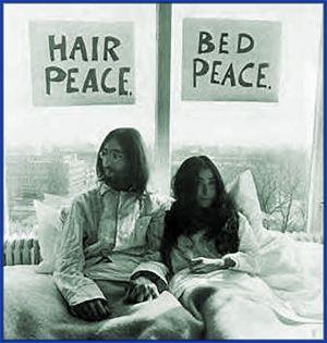 Yoko Ono afirma que su bed in con Lennon fue más que nada romántico