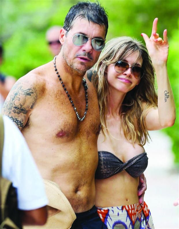 Marcelo Tinelli y Guillermina Valdés