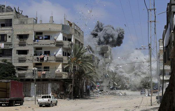 Una bomba israelí estalla en la ciudad de Gaza