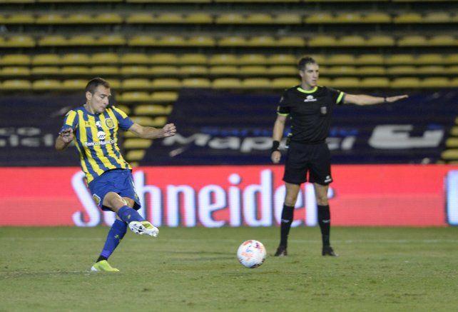 Ruben convirtió ante Central Córdoba su primer gol tras la vuelta.