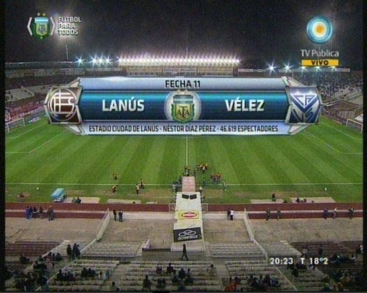 Vélez venció 2 a 1 a Lanús en el cierre de la fecha
