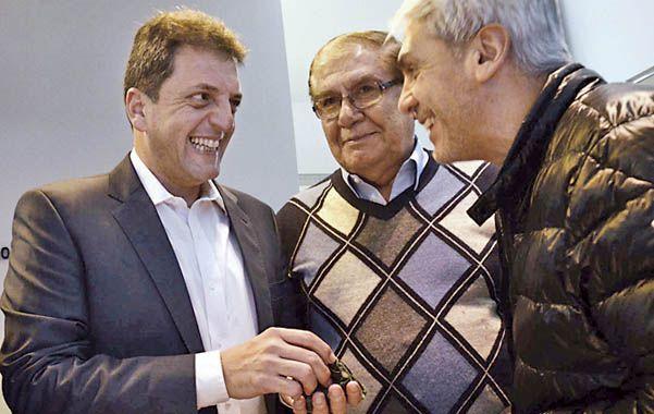 Energía. Massa criticó ayer en Neuquén la política energética del gobierno.