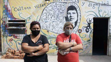 Belén y María Rosa Vega, dos hermanas, que desde hace cuatro años están al frente de un espacio comunitario de La Poderosa en Los Pumitas.