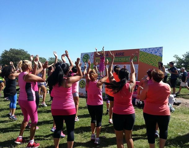 El Instituto Municipal de la Mujer (IMM) organizó esta mañana actividades recreativas.