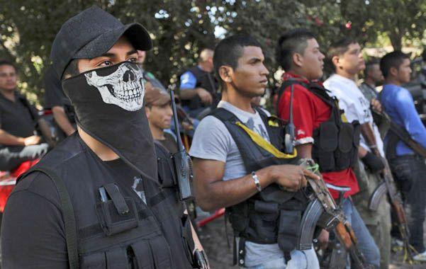 Hasta los dientes. Autodefensas de Michoacán en enero pasado.