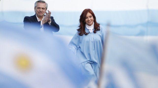 El binomio. Alberto F y CFK se impusieron en los comicios generales con el 48