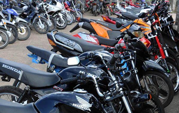 Incautadas. Parte del lote de 60 motos que se secuestró en el operativo.