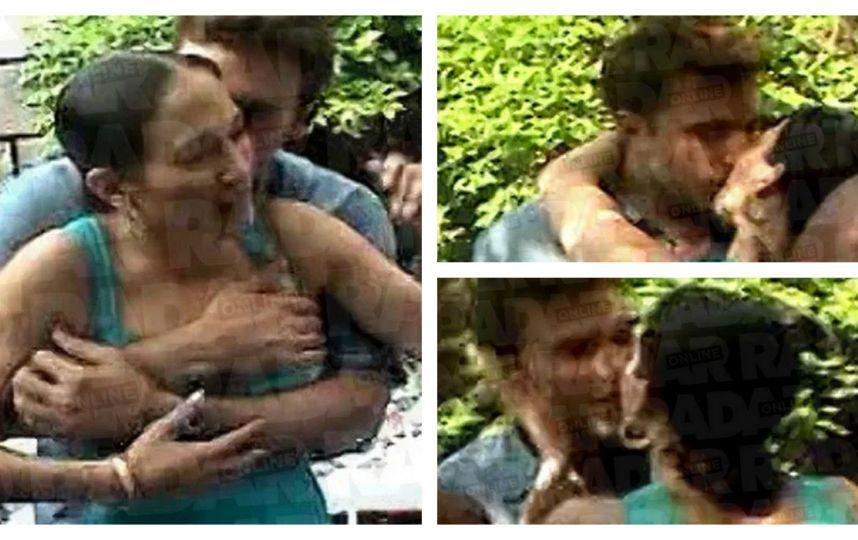 Una de las imágenes en las que se puede ver al actor abrazando a la cantante.