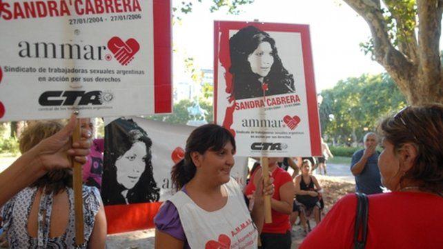 En la calle. Sandra Cabrera se convirtió en un símbolo de lucha.