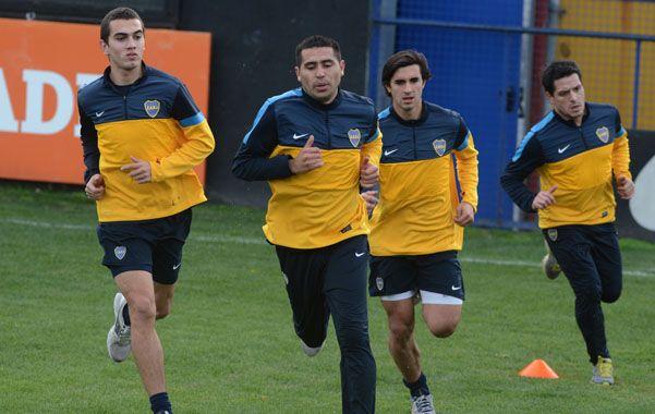 Riaño ya se entrenó con el resto del plantel de Boca