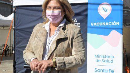 La ministra de Salud del gabinete de Omar Perotti.