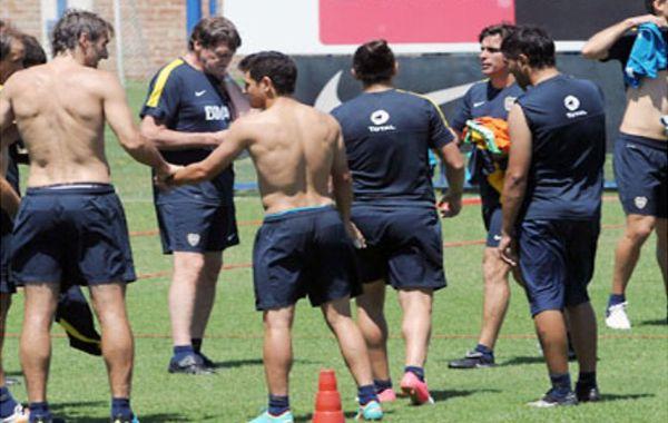 Lo arma. Falcioni decide el equipo en la práctica.