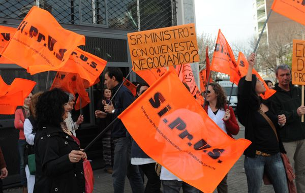 Los médicos del Siprus marcharon el 31 de agosto pasado al Ministerio de Trabajo.